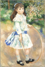 Póster Girl with a Hoop
