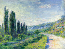 Póster  Road to Vetheuil - Claude Monet