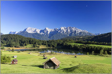 Vinilo para la pared  Sunny day at Geroldsee in Alps - Dieter Meyrl