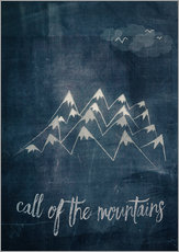 Cuadro de plexi-alu  call of the mountains - Sybille Sterk