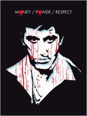 Vinilo para la pared  alternative scarface tony montana movie poster - 2ToastDesign