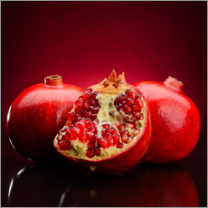 Cuadro de plexi-alu  red pomegranate fruits