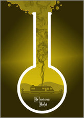 Cuadro de plexi-alu  Breaking Bad - Fanart production version in yellow alternative - HDMI2K