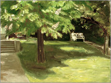 Vinilo para la pared  Garden bench under the chestnut - Max Liebermann