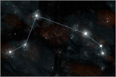 Vinilo para la pared  Artist's depiction of the constellation Aries the Ram. - Marc Ward