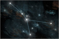 Vinilo para la pared  An artist's depiction of the constellation Cancer. - Marc Ward
