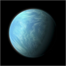 Vinilo para la pared  Artist's depiction of Kepler 22b. - Marc Ward