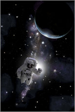 Cuadro de plexi-alu  Artist's concept of an astronaut floating in outer space. - Marc Ward