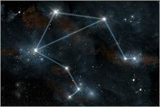 Vinilo para la pared  Artist's depiction of the constellation Libra the Scales. - Marc Ward