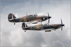 Vinilo para la pared  BBMF SPit and Hurry - airpowerart