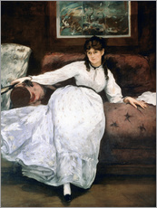 Cuadro de plexi-alu  The rest or Portrait of Berthe Morisot - Edouard Manet