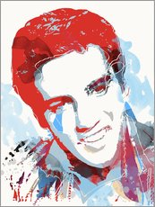 Vinilo para la pared  alternative elvis presley pop art print - 2ToastDesign