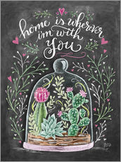 Vinilo para la pared  Home is Wherever I'm with You - Lily & Val