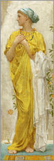 Vinilo para la pared  Standing figure in yellow and blue, study for Topaz - Albert Joseph Moore