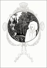 Cuadro de plexi-alu  pierrot of the minute - Aubrey Vincent Beardsley