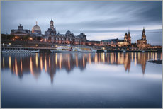 Vinilo para la pared  Dresden old town at the blue hour - Philipp Dase