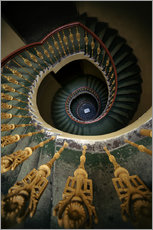 Jaroslaw Blaminsky - Ornamented spiral staircase in green and yellow