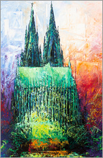Vinilo para la pared  Cologne Cathedral Abstract - Renate Berghaus