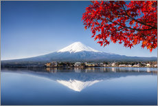 Cuadro de plexi-alu  Mount Fuji and Lake Kawaguchiko in autumn - Jan Christopher Becke