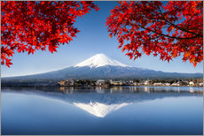 Cuadro de plexi-alu  Mount Fuji at the lake Kawaguchiko in Japan - Jan Christopher Becke