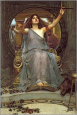 Vinilo para la pared  Circe, con el caparazón de Ulises - John William Waterhouse