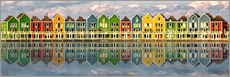 Vinilo para la pared  The colorful houses of Houten   Netherlands - Sabine Wagner
