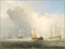 Vinilo para la pared  Rotterdam Ferry-Boat - Joseph Mallord William Turner