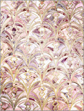 Cuadro de plexi-alu  Dusty Rose and Coral Art Deco Marbling Pattern - Micklyn Le Feuvre