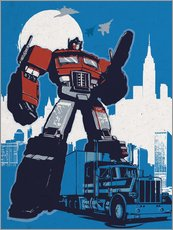 Cuadro de plexi-alu  Optimus prime, Transformers - 2ToastDesign