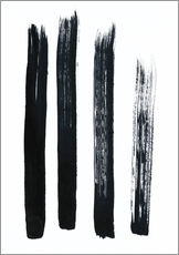 Cuadro de plexi-alu  Abstract brush strokes