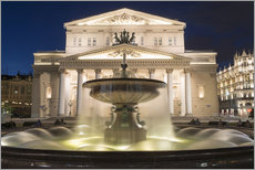 Cuadro de plexi-alu  Fountain and Bolshoi Theatre