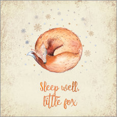 Vinilo para la pared Sleep well little fox