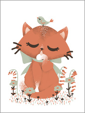 Vinilo para la pared  Animal friends - The cat - Kanzi Lue