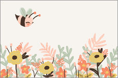 Vinilo para la pared  Animal friends - The bee - Kanzilue