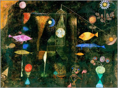 Vinilo para la pared  Peces mágicos - Paul Klee