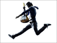 Vinilo para la pared  Guitarist jumping in the air