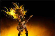 Vinilo para la pared  Rock girl with an electric guitar