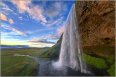 Vinilo para la pared  Seljalandfoss Sunset - Dave Derbis