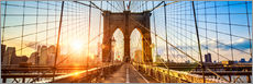 Cuadro de plexi-alu  Brooklyn Bridge in New York City, USA - Jan Christopher Becke