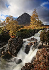 Cuadro de plexi-alu  Scotland in Autumn - Buchaille Etive Mor - Martina Cross