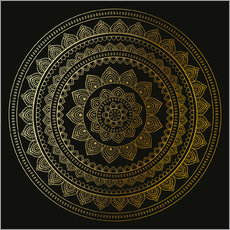 Cuadro de plexi-alu  Mandala on Black