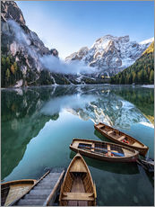 Cuadro de plexi-alu  Early morning on Lake Braies - Dolomite Alps Italy - Achim Thomae