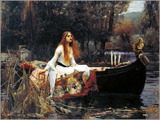Cuadro de plexi-alu  La dama de Shalott - John William Waterhouse