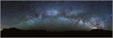Vinilo para la pared  Panoramic of the Milky way arch in the sky, United States - Matteo Colombo