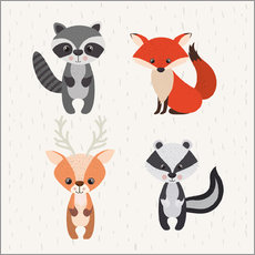 Vinilo para la pared  Forest animals - Kidz Collection
