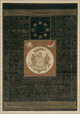 Vinilo para la pared  Zhenwu with the Eight Trigrams, the Northern Dipper, and Talismans, Qing dynasty - Chinese School