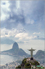 Cuadro de plexi-alu  Rio de Janeiro landscape showing Corcovado, the Christ and the Sugar Loaf, UNESCO World Heritage Sit - Alex Robinson