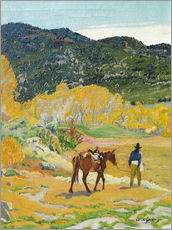 Vinilo para la pared  The horse - Walter Ufer