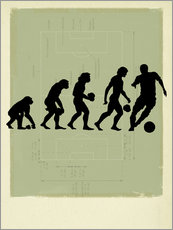 Vinilo para la pared  Football Evolution - Smetek