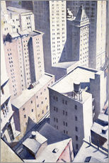 Cuadro de plexi-alu  Looking Down on Downtown - Christopher Nevinson